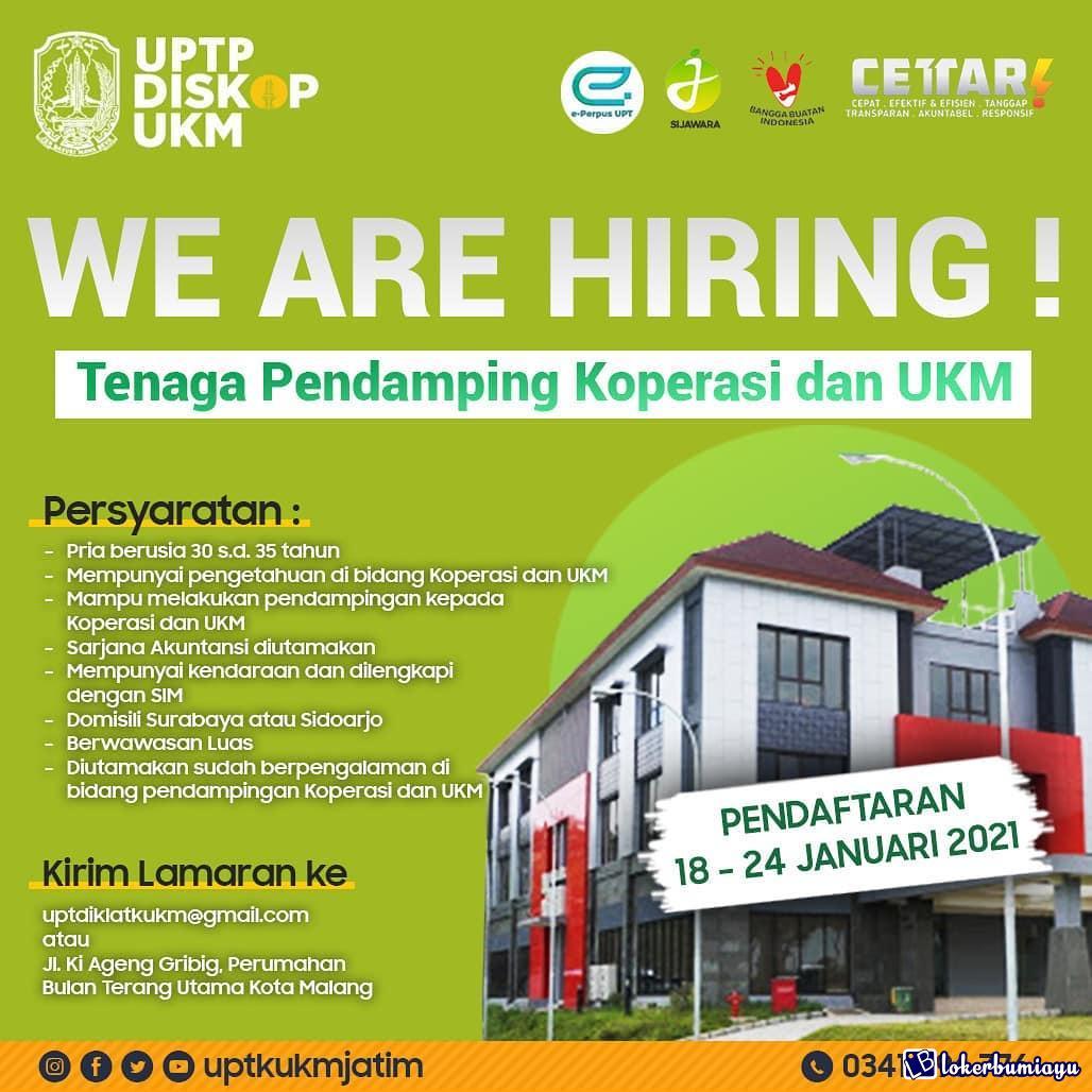 Lowongan Kerja Upt Pelatihan Koperasi Dan Ukm Jawa Timur Januari 2021