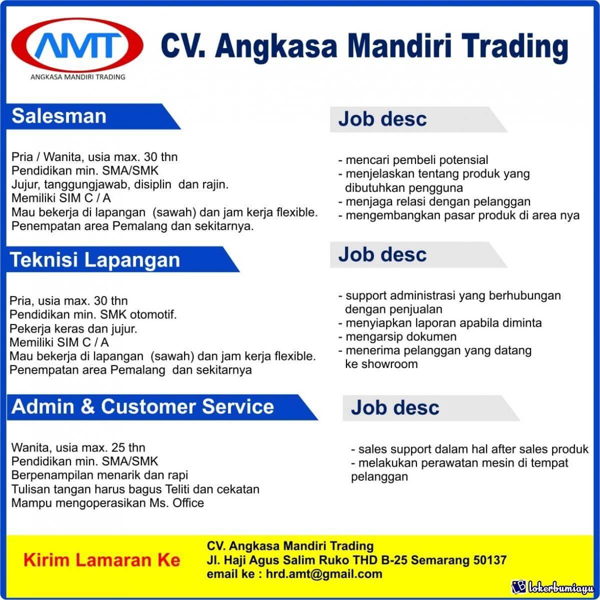 CV Angkasa Mandiri Trading