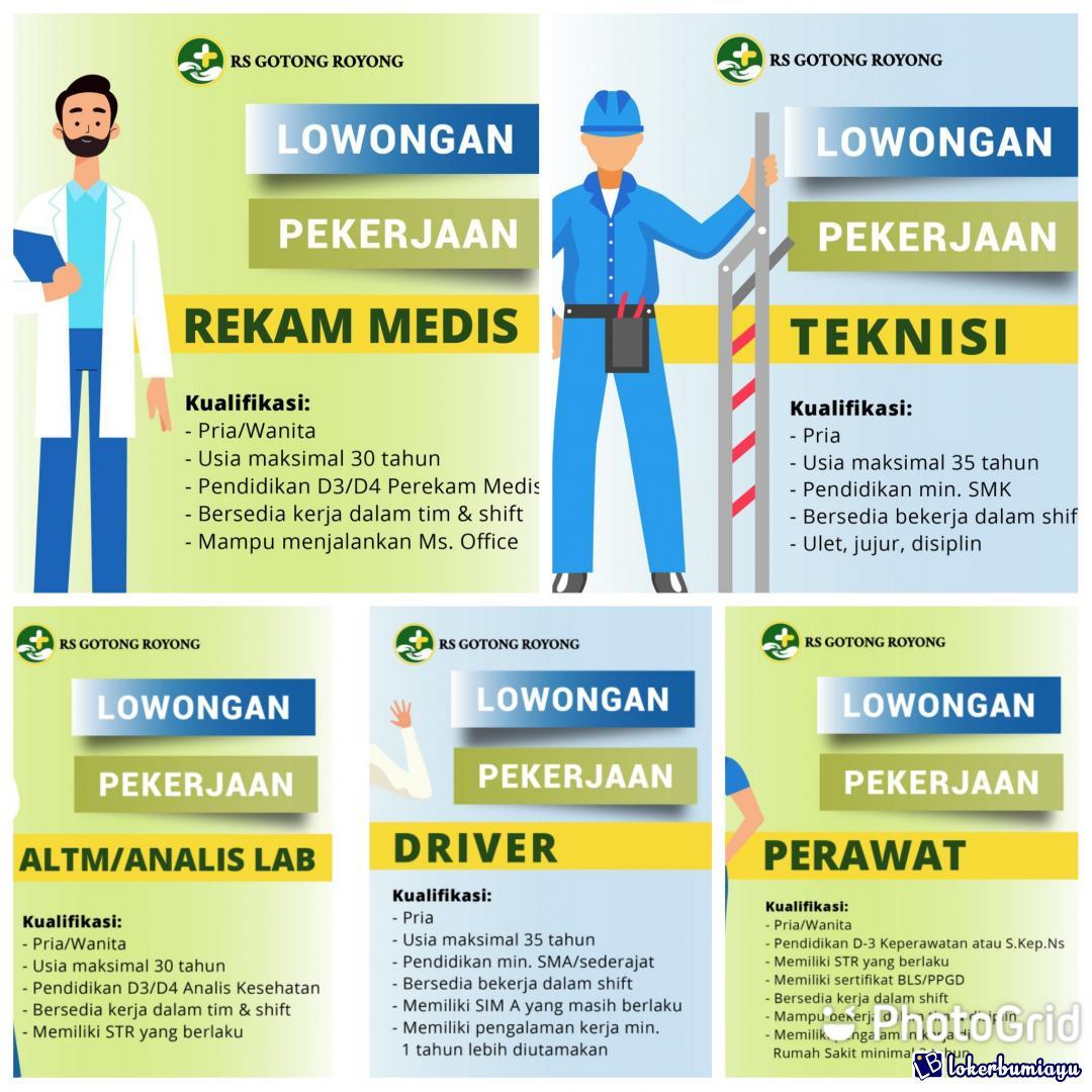 Lowongan Kerja Rs Gotong Royong Surabaya Januari 2021