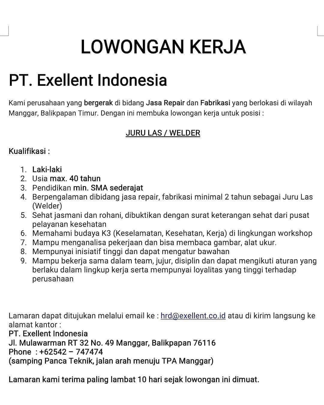 PT. Exellent Indonesia