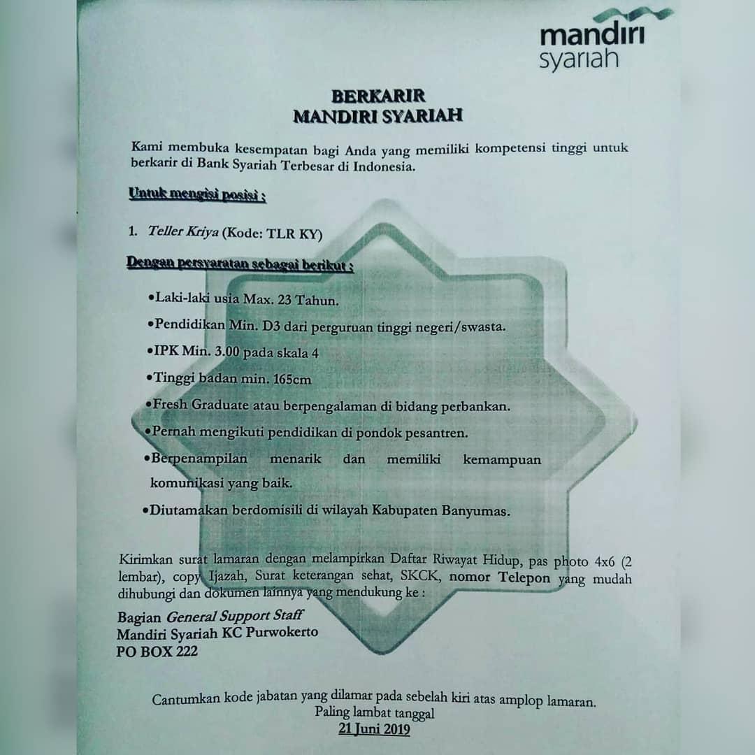 Bank Mandiri Syariah KC Purwokerto