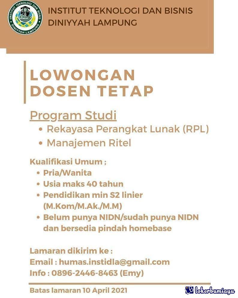 Institut Teknologi dan Bisnis Diniyyah Lampung