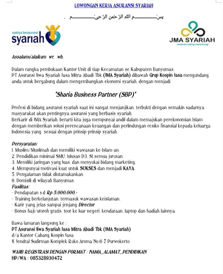 PT Asuransi Jiwa Syariah Jasa Mitra Abadi Tbk