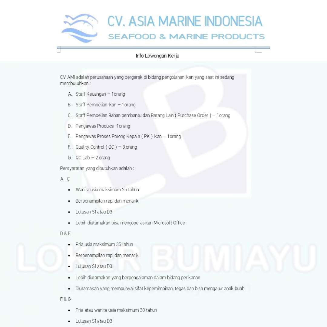 CV Asia Marine Indonesia