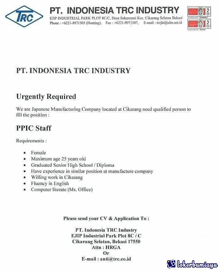 PT. INDONESIA TRC INDUSTRY