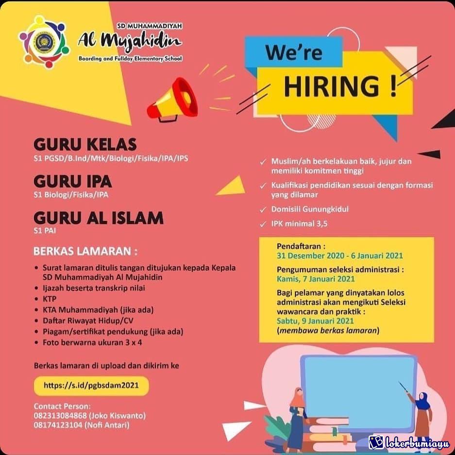 Lowongan Kerja Di Gunung Kidul Di Yogyakarta Februari 2021
