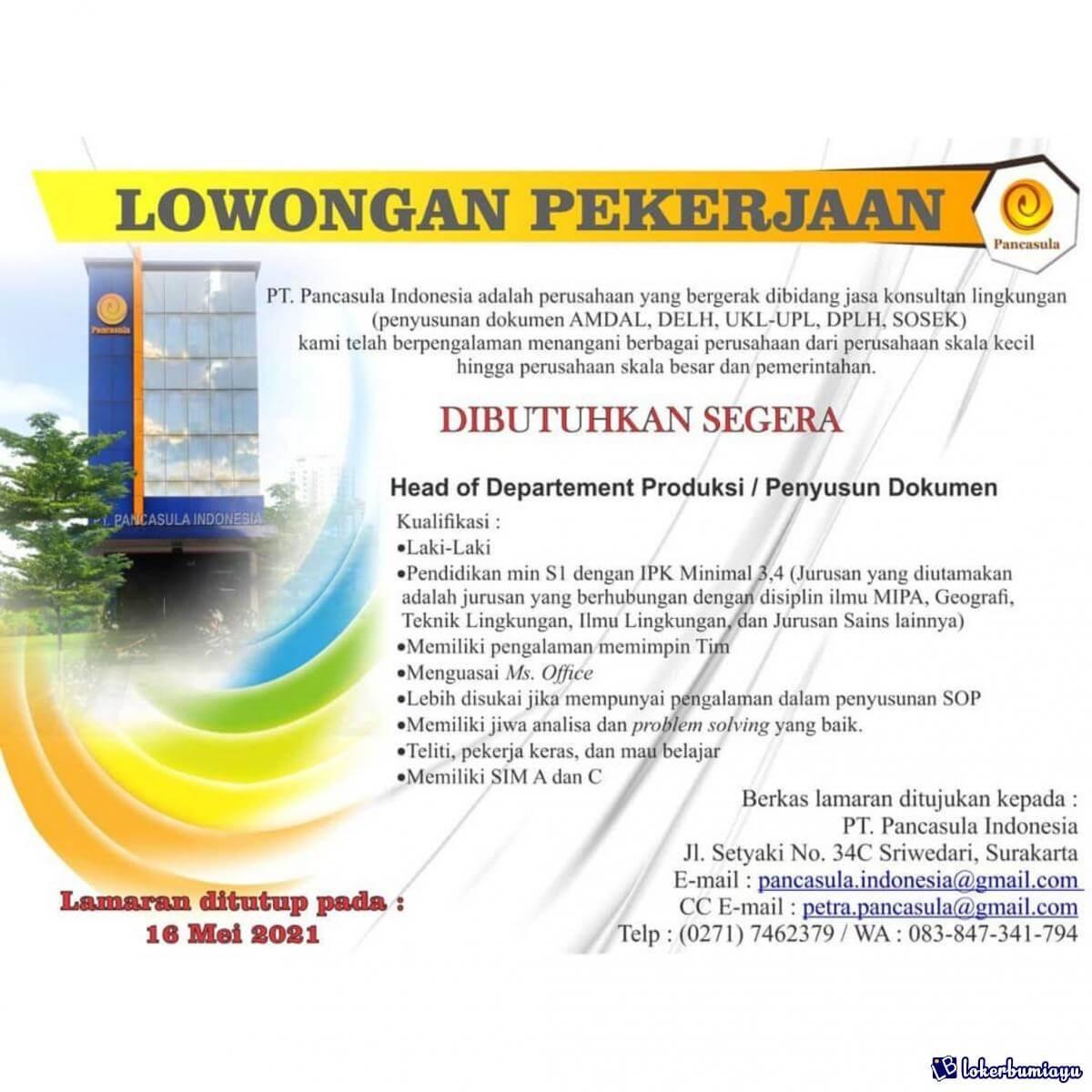 PT Pancasula Indonesia