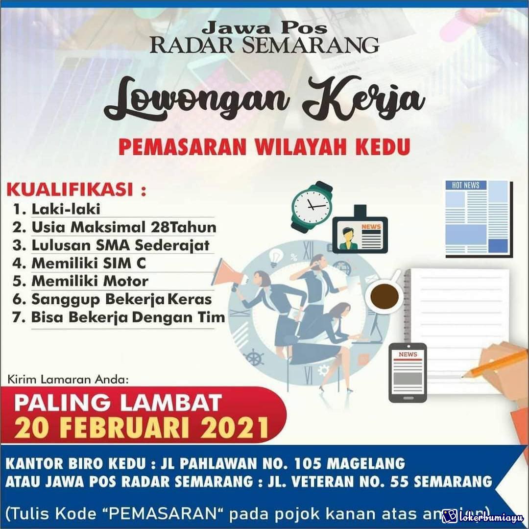 Lowongan Kerja Jawa Pos Radar Semarang Februari 2021
