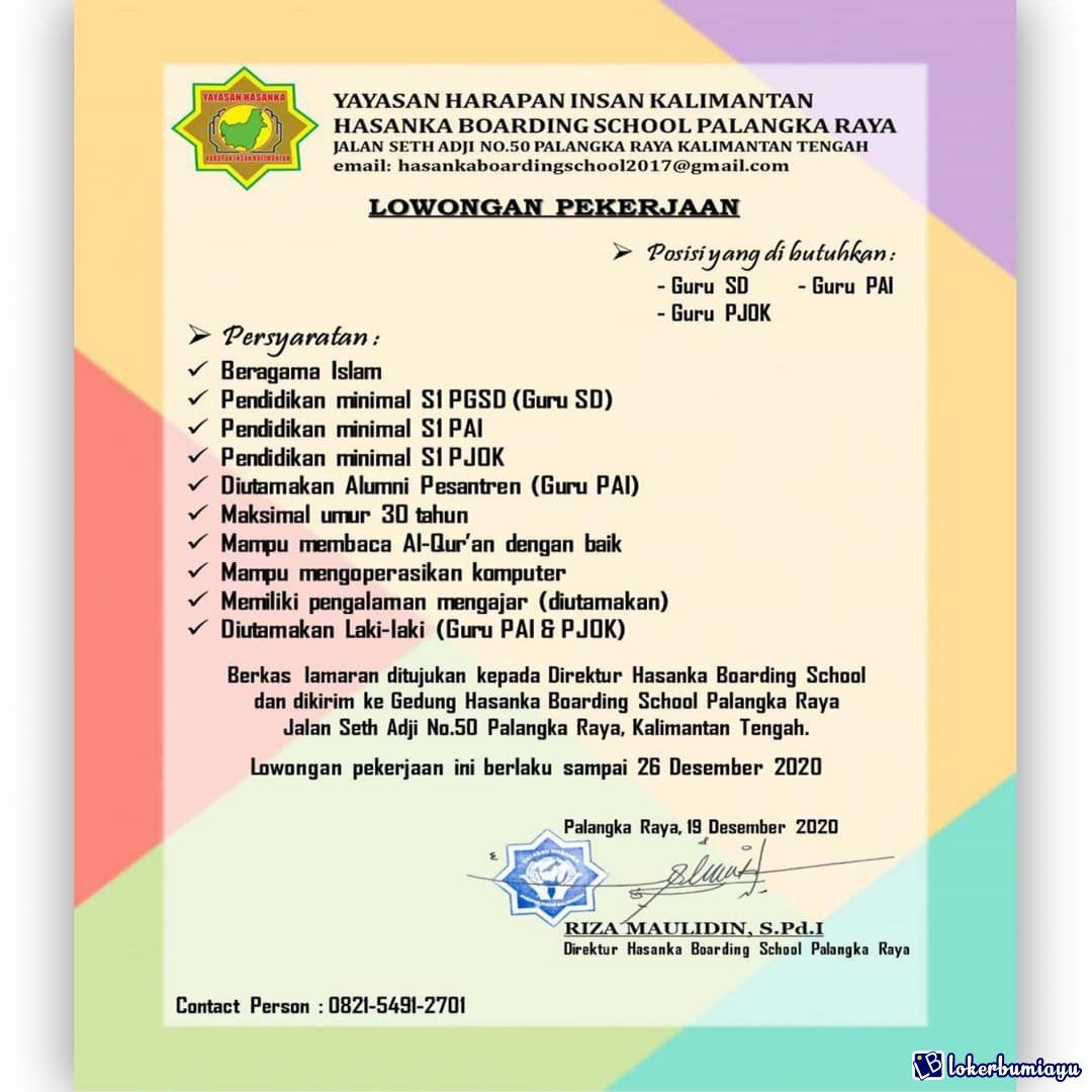 Lowongan Kerja Sebagai Guru Sd Februari 2021