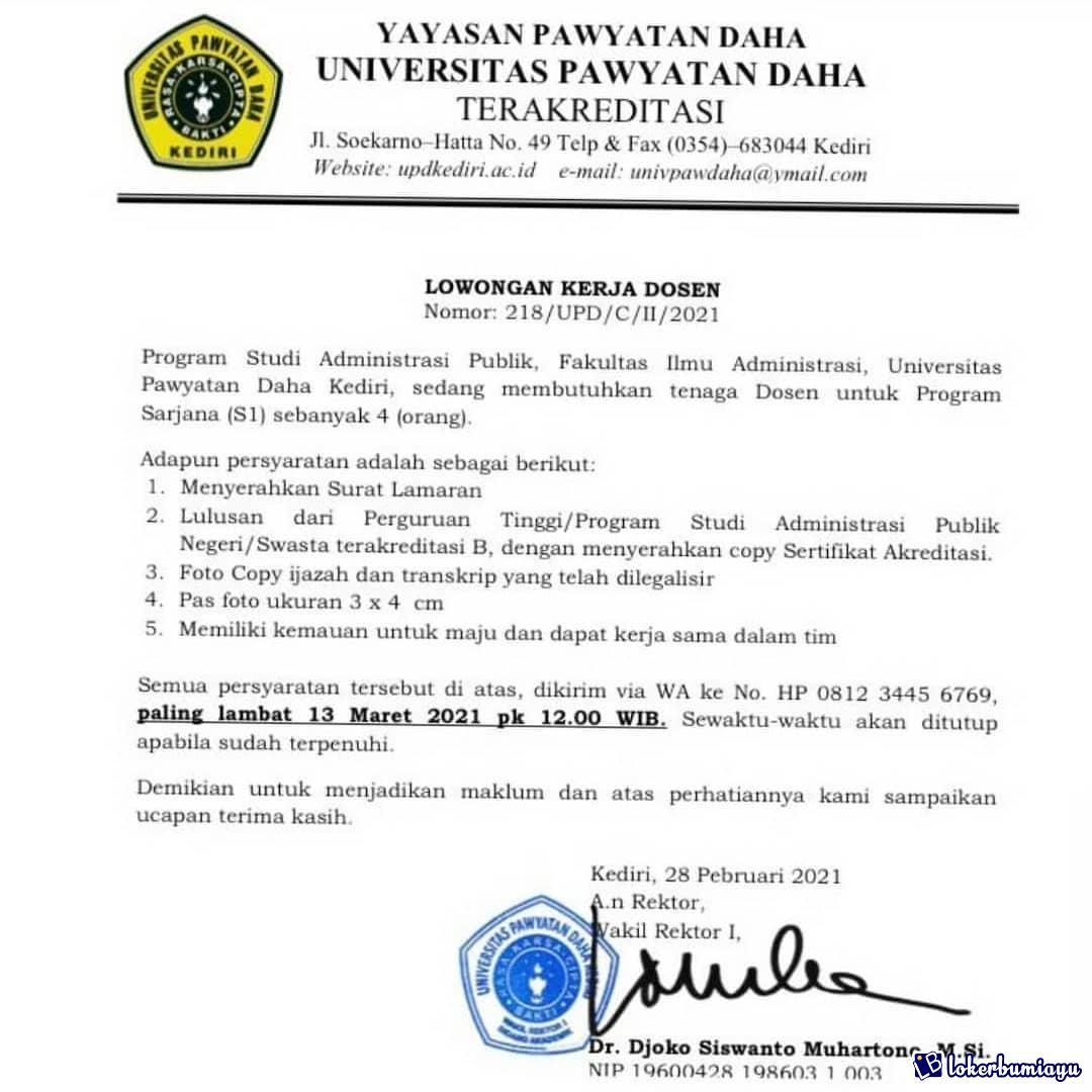 Universitas Pawyatan Daha Kediri