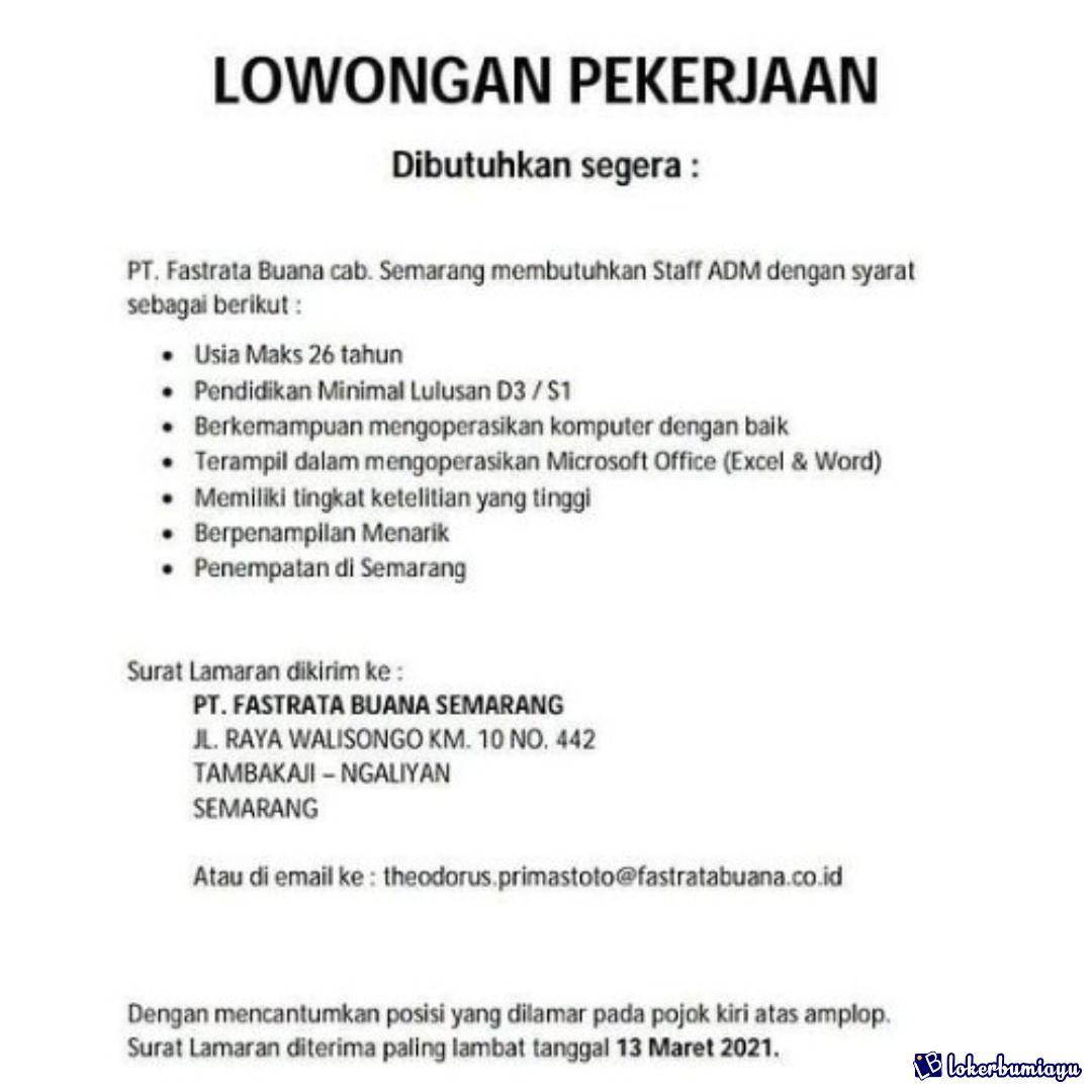 PT Fastrata Buana cabang Semarang