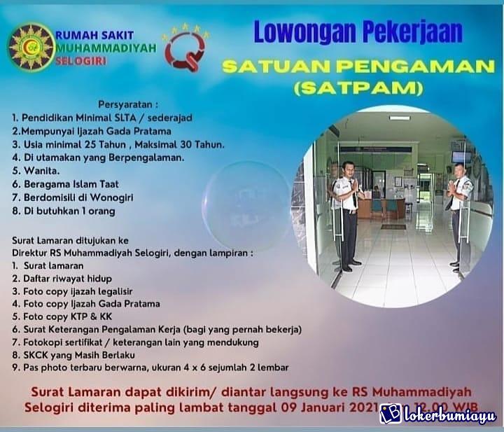 Lowongan Kerja Di Wonogiri Jawa Tengah Juni 2021