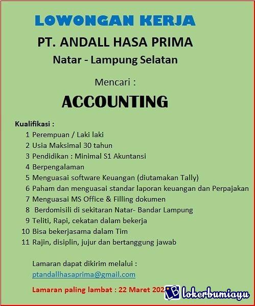 Lowongan Kerja Di Lampung Selatan Lampung Juni 2021